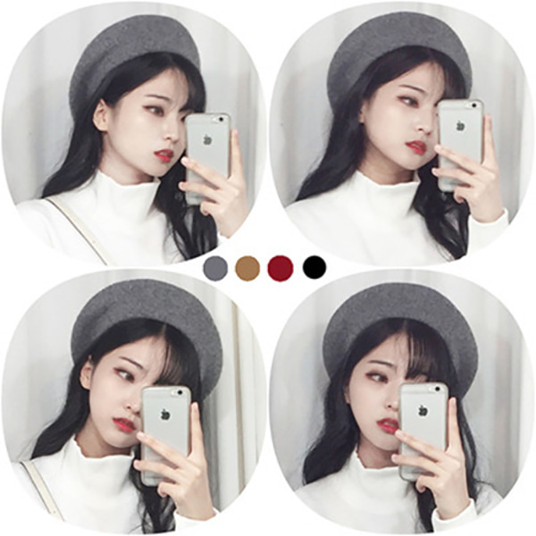 WOOL BERET HAT (4color) #59